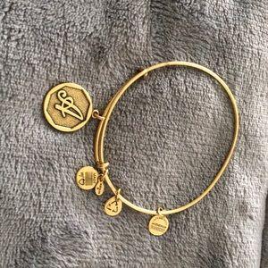 """Alex and Ani """"A"""" bracelet"""